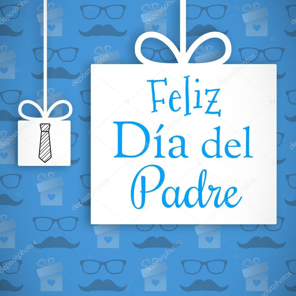 Feliz Dia Del Padre Bericht Stockfoto Wavebreakmedia 113676292