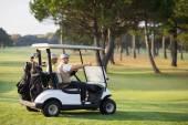 Zralé přítelkyním v kočárek golf