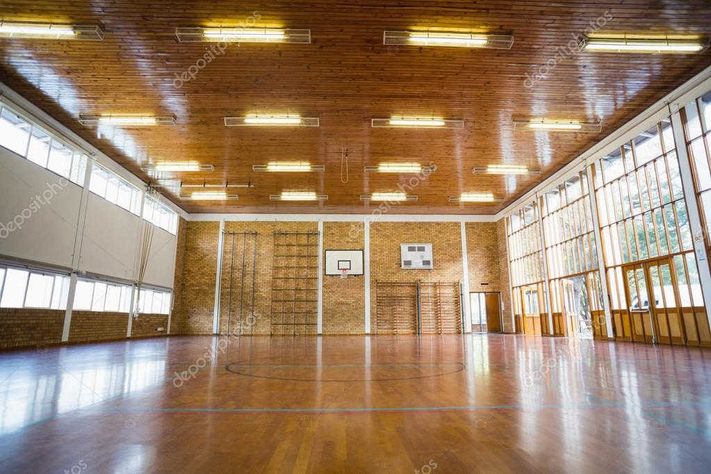 interieur van school sportschool hal stockfoto