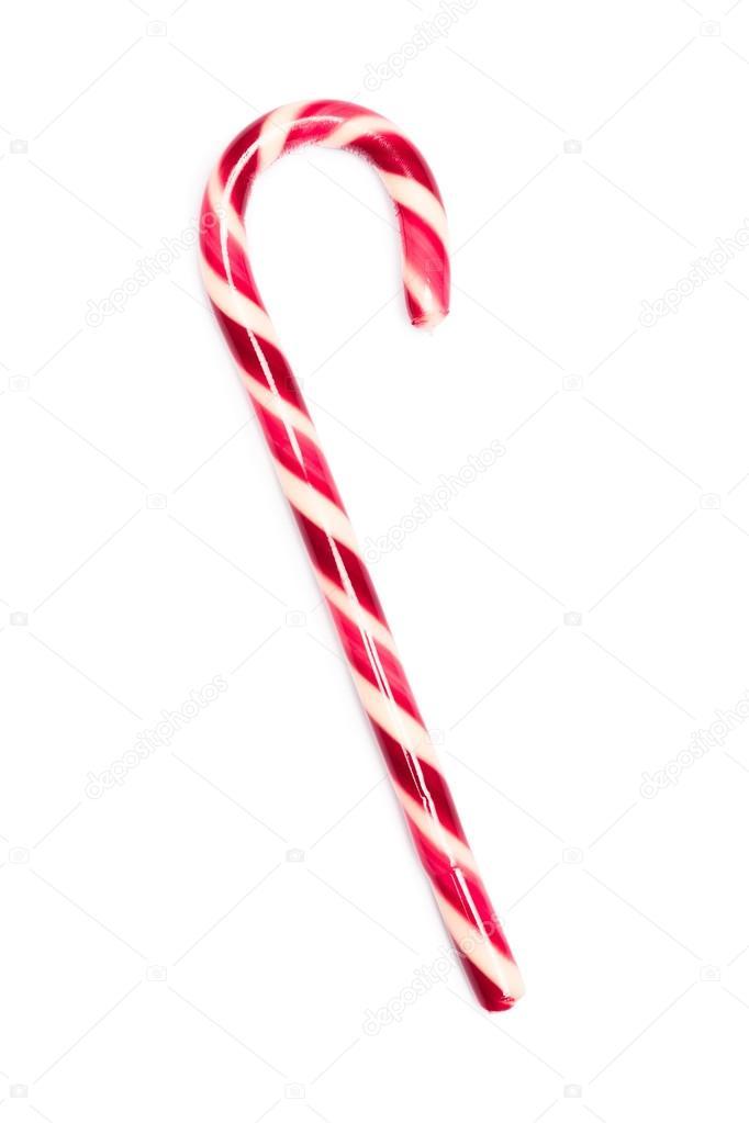 bastn de caramelo de navidad rojo y blanco u foto de stock