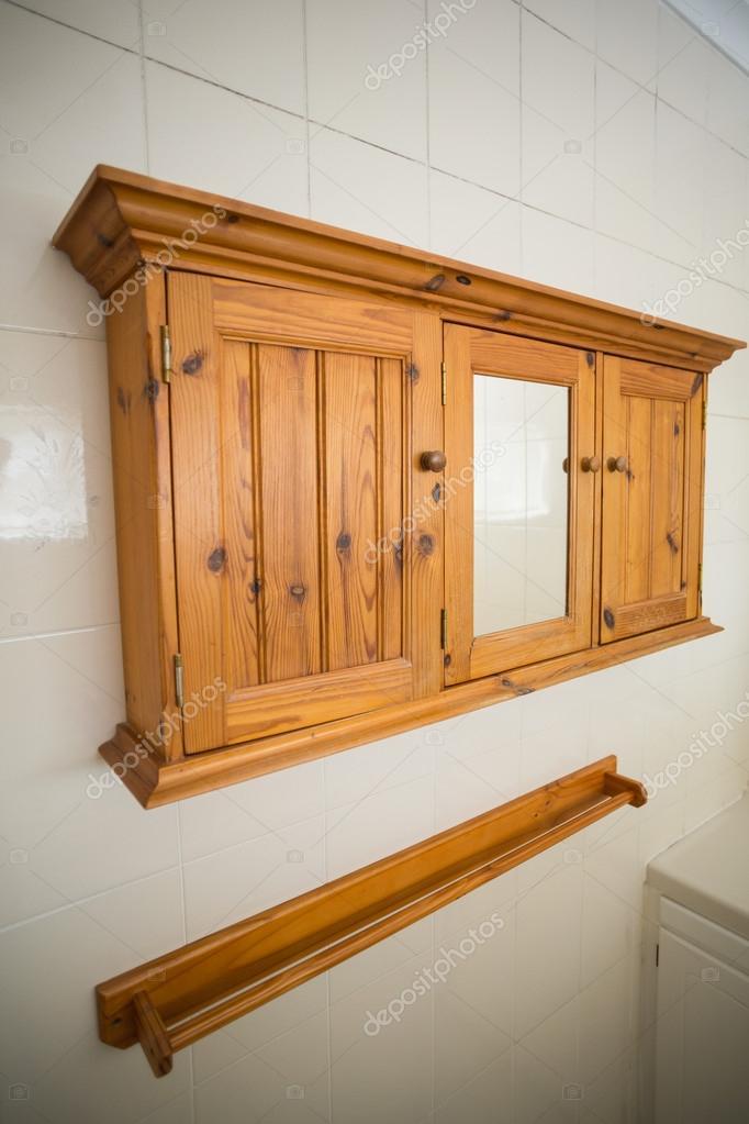 Drewniane Półki Na ścianie Kuchni Zdjęcie Stockowe