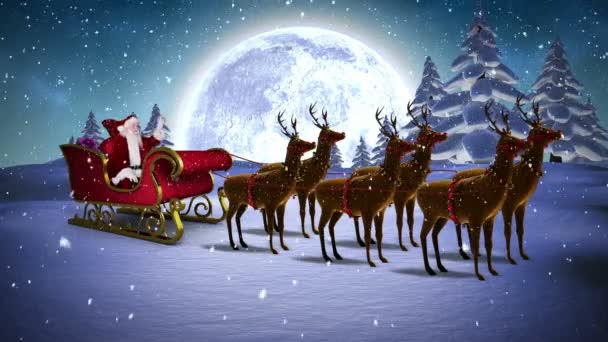 Santa Sleigh Stock Videos Royalty Free Santa Sleigh Footages Depositphotos