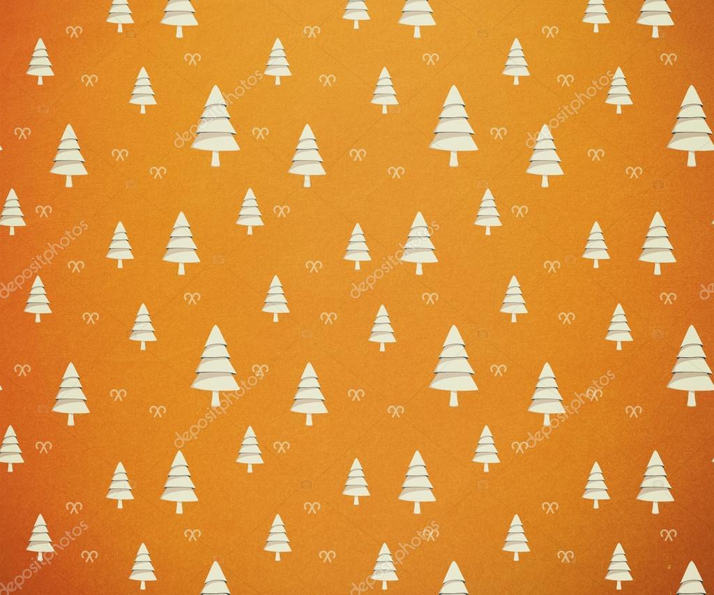 Christmas Tree Pattern Wallpaper Stock Photo