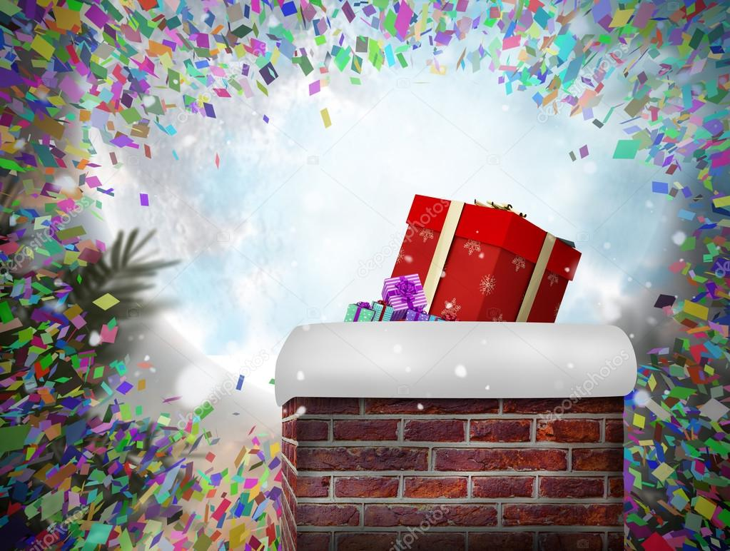 Chimenea con regalo — Foto de stock © Wavebreakmedia #62482349