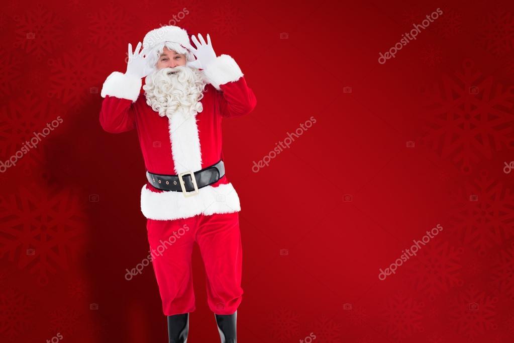 Posizione Babbo Natale.Immagine Composita Del Ritratto Di Felice Posizione Di Babbo Natale