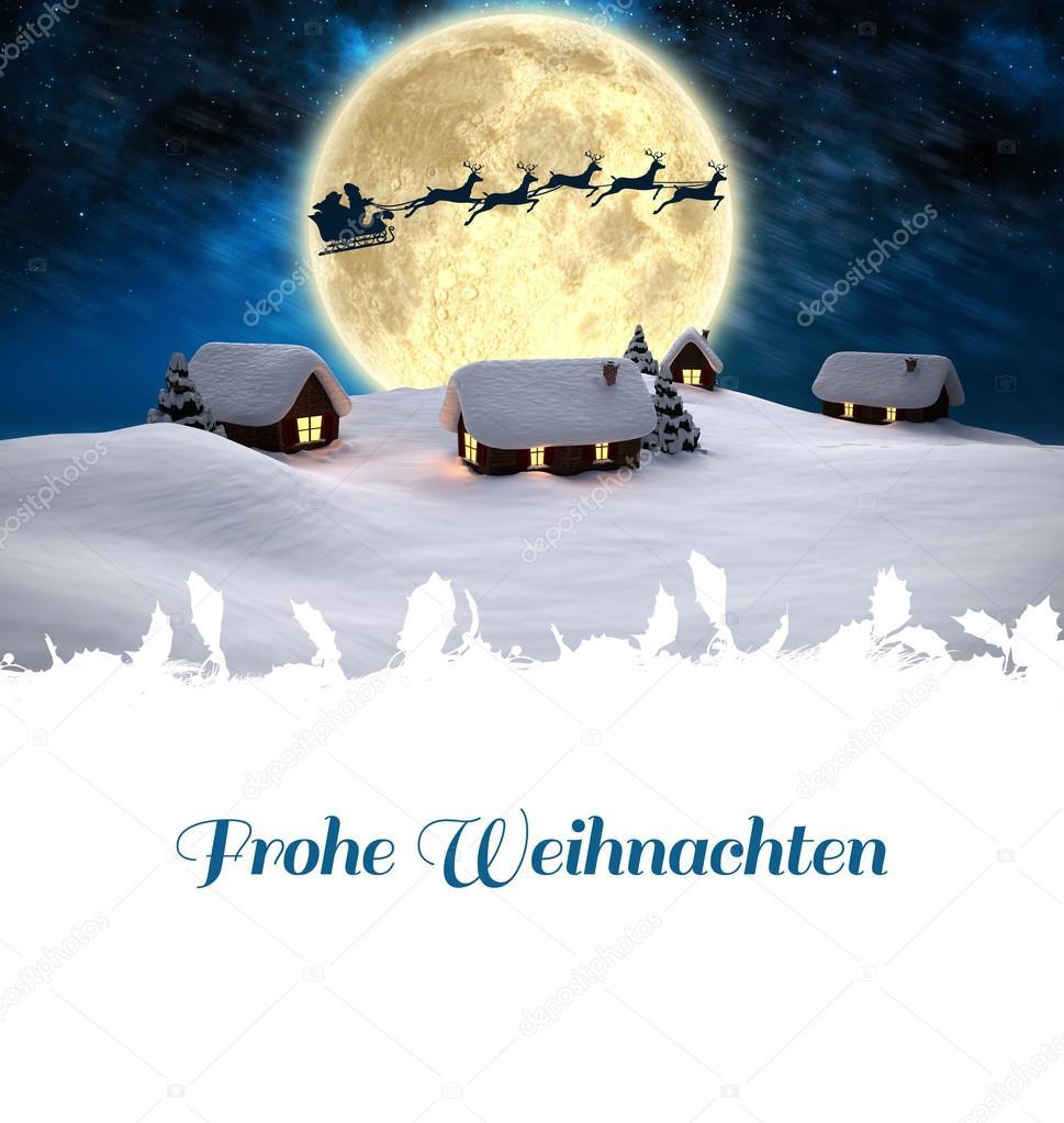 Weihnachtsgrüße Deutsch.Zusammengesetztes Bild Von Weihnachten Gruß In Deutsch Stockfoto