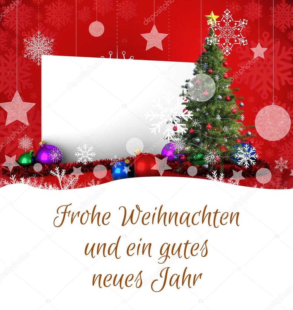 Composite Image Of Christmas Greeting In German Stock Photo
