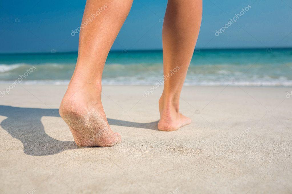 beach at Sexy feet