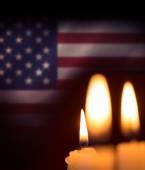 Složený obraz měkké světlo svíček