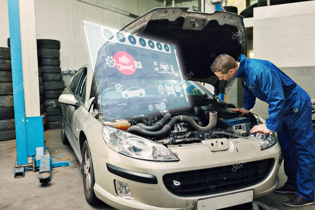 Mechanische Prüfung Automotor — Stockfoto © Wavebreakmedia #82002262