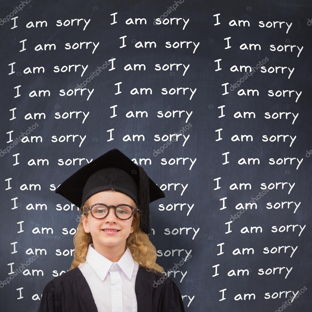 Linda pupila en toga de graduación — Fotos de Stock © Wavebreakmedia ...