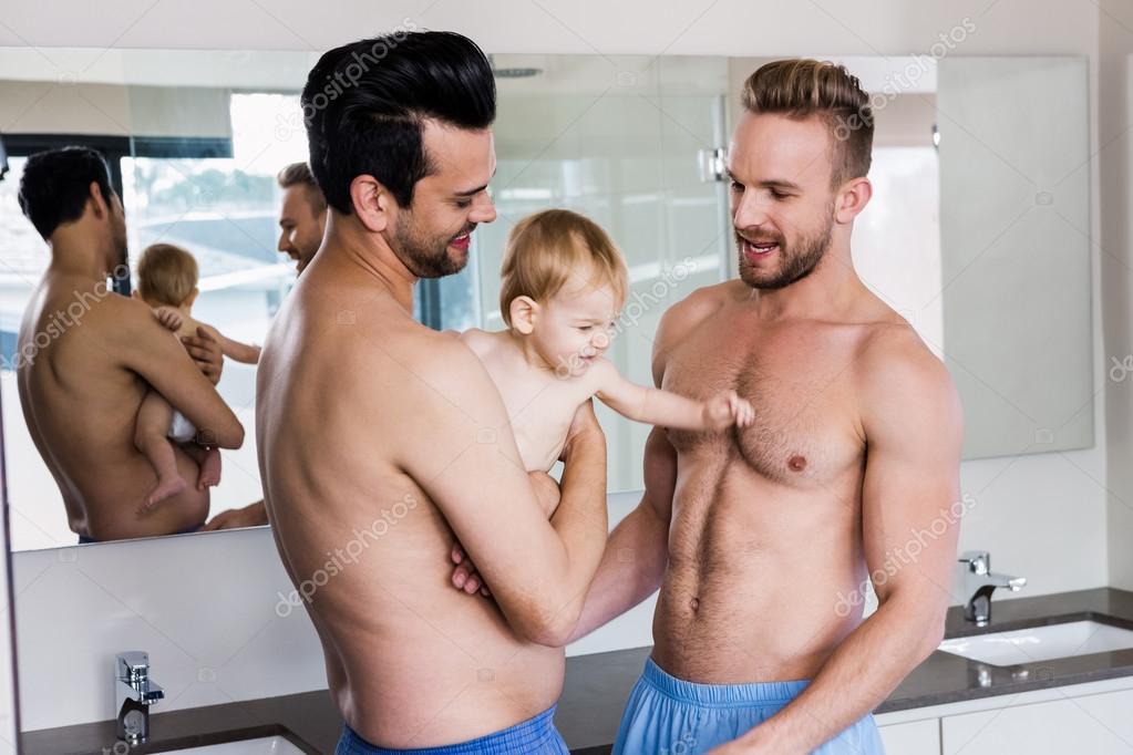 Homosexuell, das öffentliche Badezimmer
