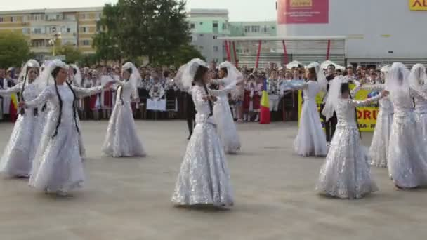 Georgian traditional dance at the International Folklore Festival