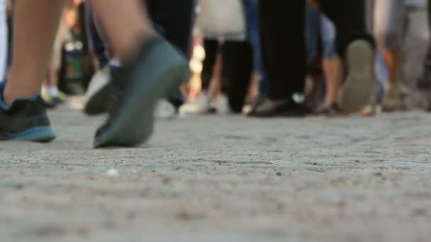 Walking people crowd