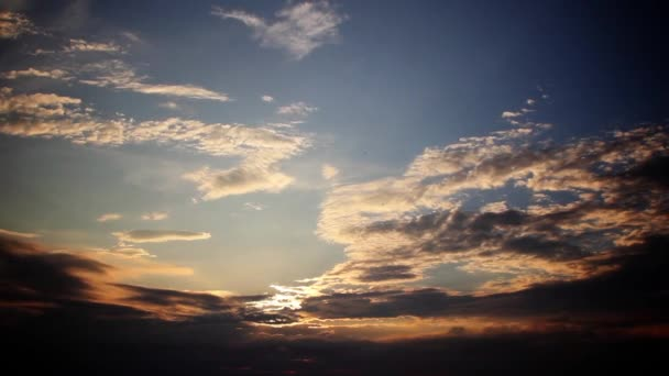 západ slunce mraky timelapse