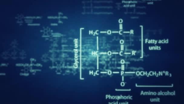chemische Formeln-3D-Animation