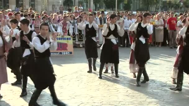 Cypriot traditional dance at the International Folklore Festival on August 04, 2012 in Tulcea, Romania.