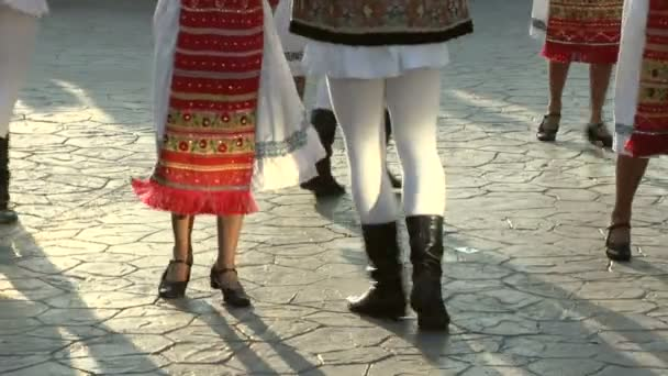 Romanian traditional dance at the International Folklore Festival on August 04, 2012 in Tulcea, Romania.