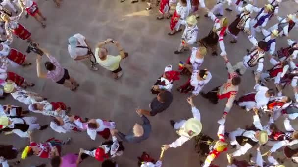 Letecký pohled na tanec přátelství