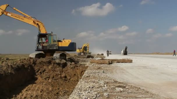 Danube Delta airport runway extension, time lapse