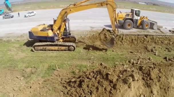 Crawler excavator at work