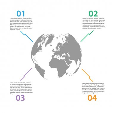 World Globe Infographics Illustration