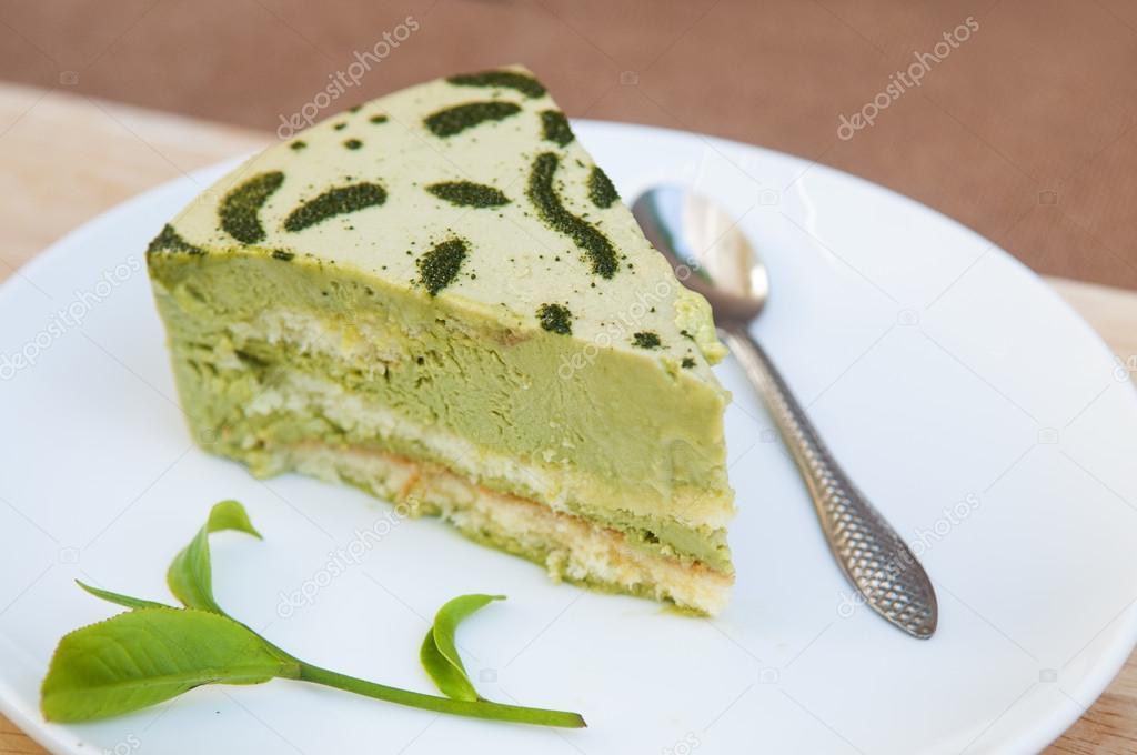 Japanischer Matcha Grun Tee Kuchen Stockfoto C Thuhuyen 98210872