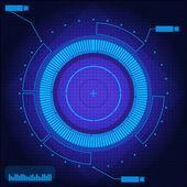 Sci Fi futuristické modré pozadí technologie
