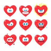 Vector illustration of the set of emoticons