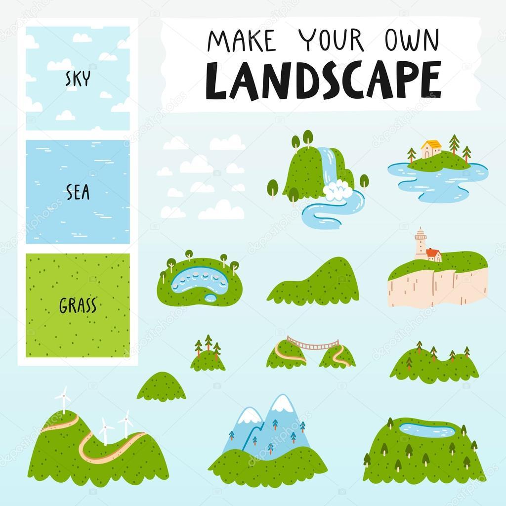 Landscape vector constructor