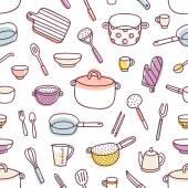 Fotografia Utensili da cucina e cottura Reticolo senza giunte di utensili