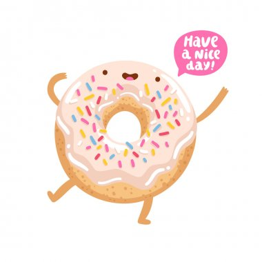 Funny donut character
