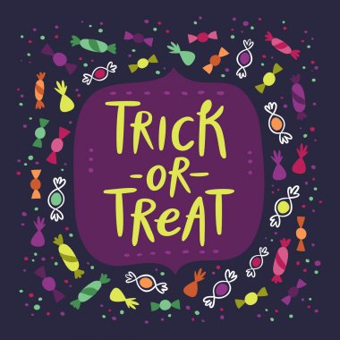 Trick or treat candy card