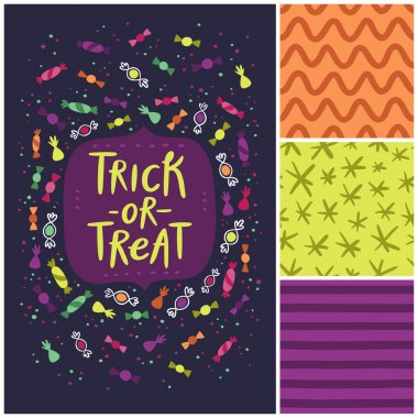 Trick or treat card and patterns