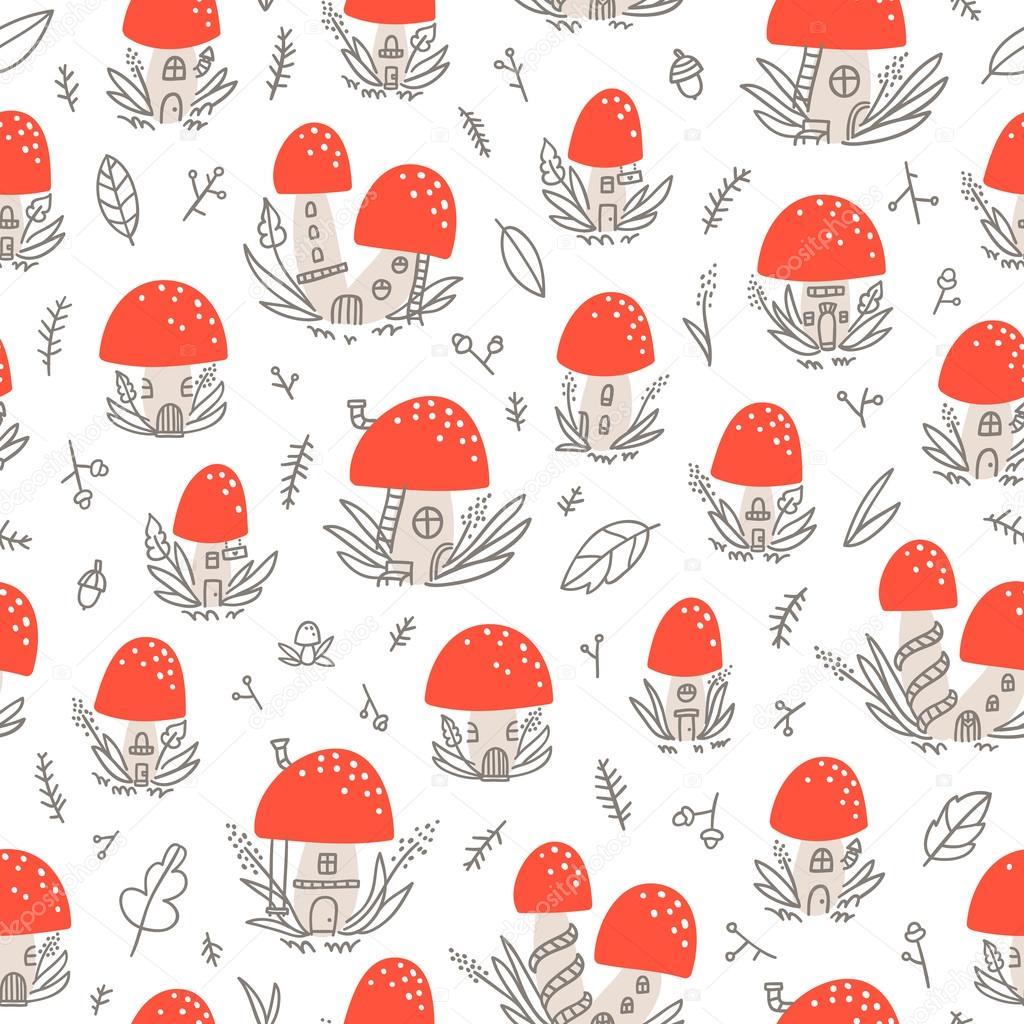 Mushroom houses pattern