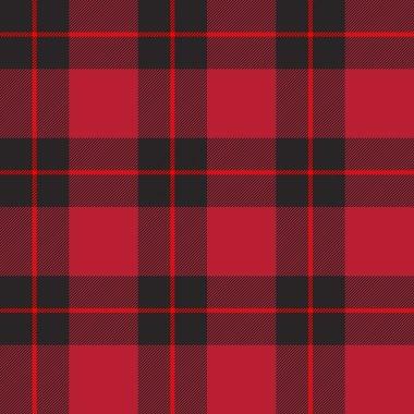Red tartan plaid