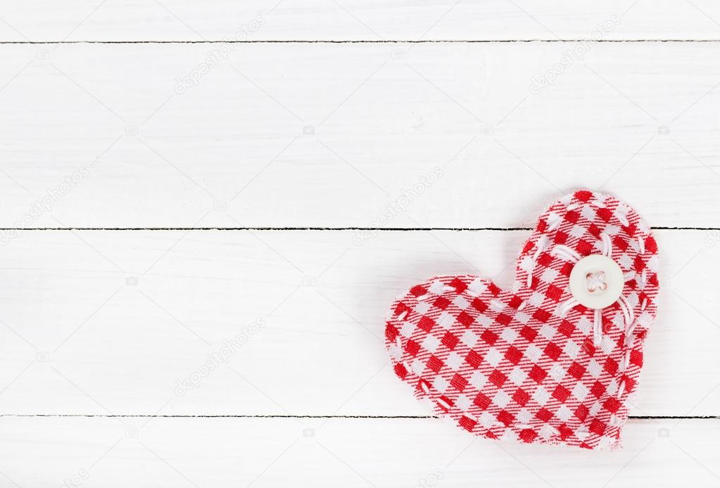 Two fabric heart for Valentines day