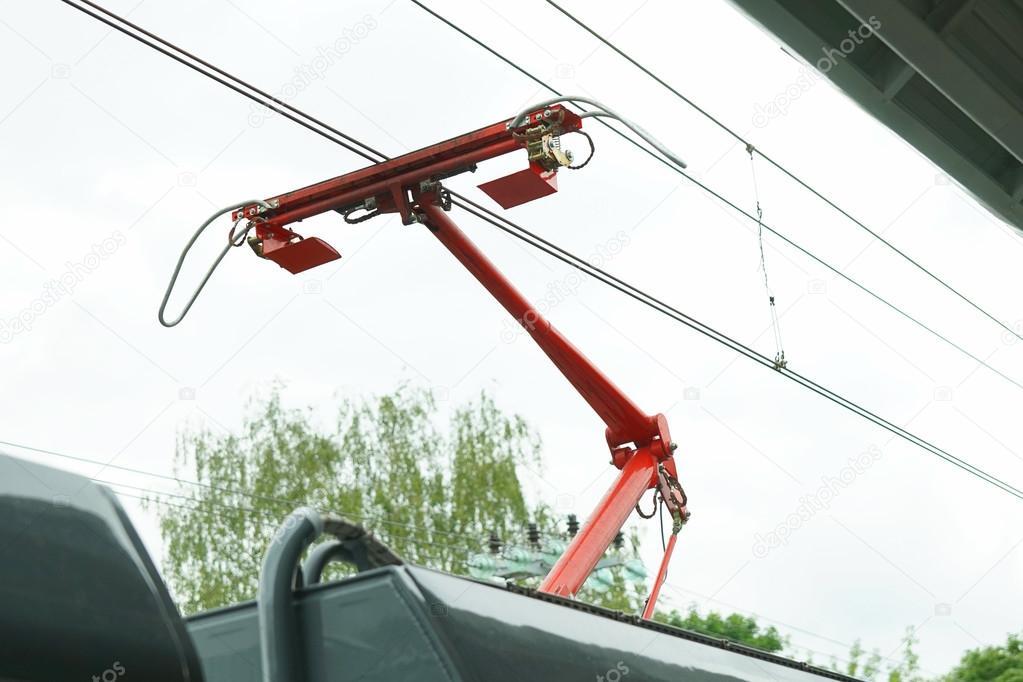 Elektriciteit Draden Op De Spoorlijn Stockfoto C Rateland 117311788