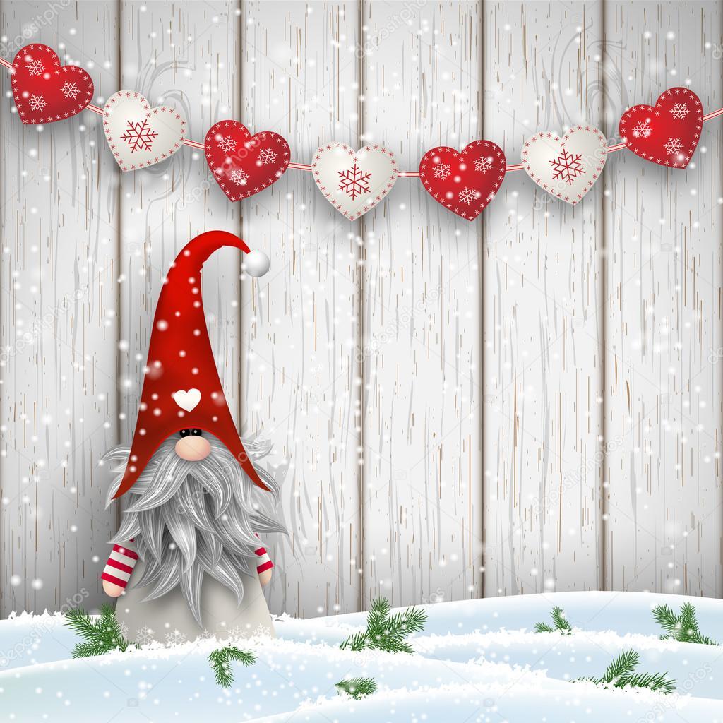 Christmas Gnomes Pattern.Nordic Christmas Gnomes Scandinavian Christmas Traditional