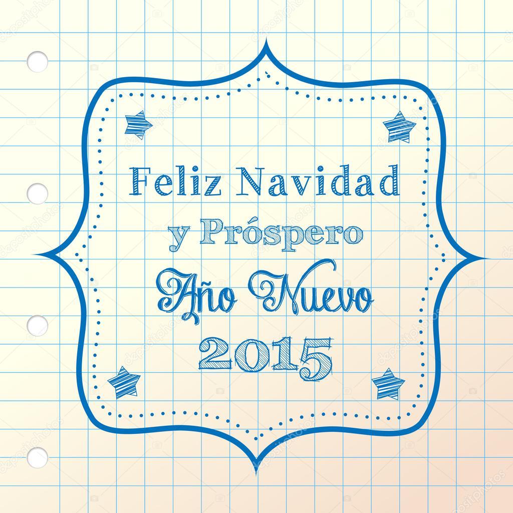 Weihnachten Begrüßung auf Spanisch — Stockvektor © anikakodydkova ...