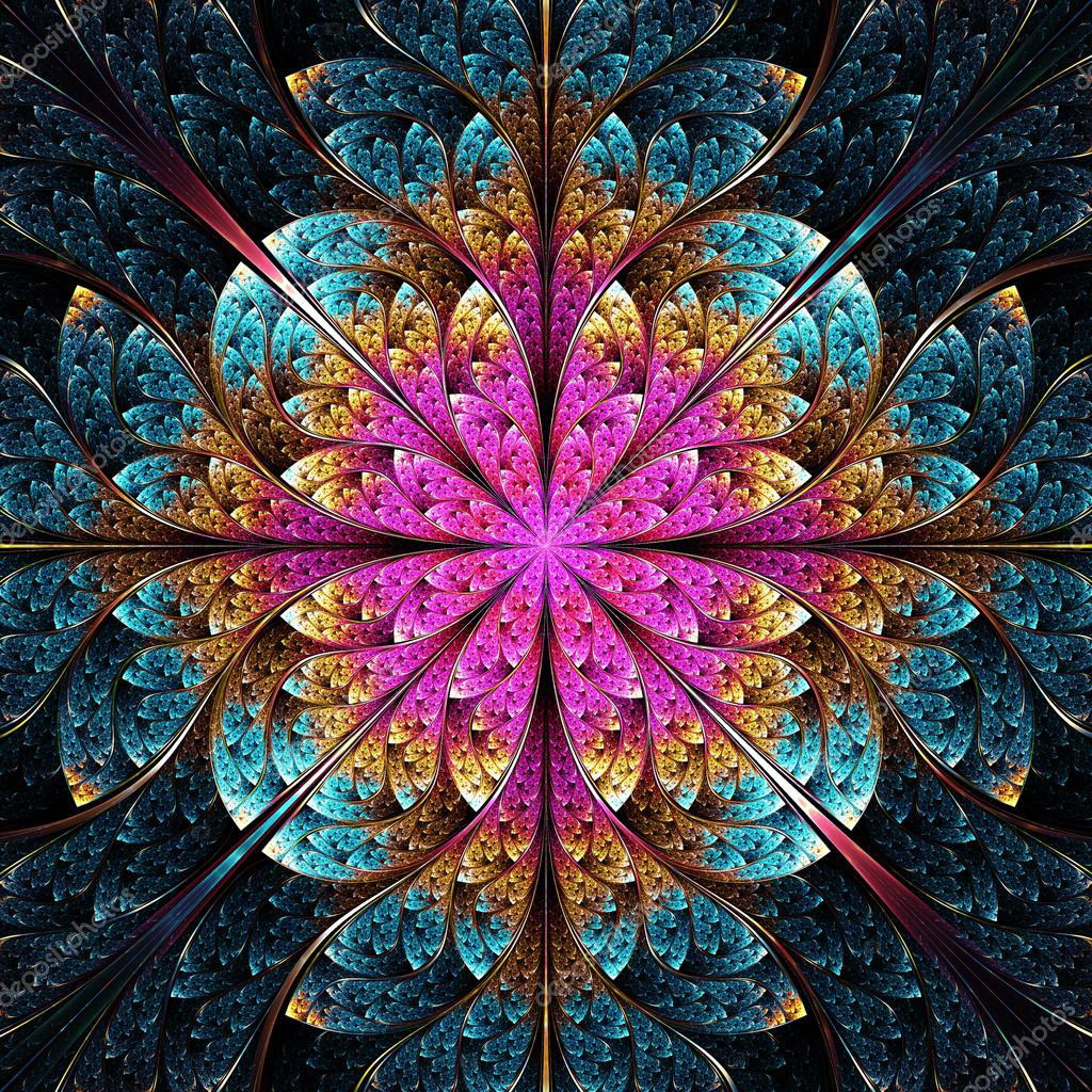 Fractal Black Flower Free Stock Photo: Flor De Fractales Geométricos