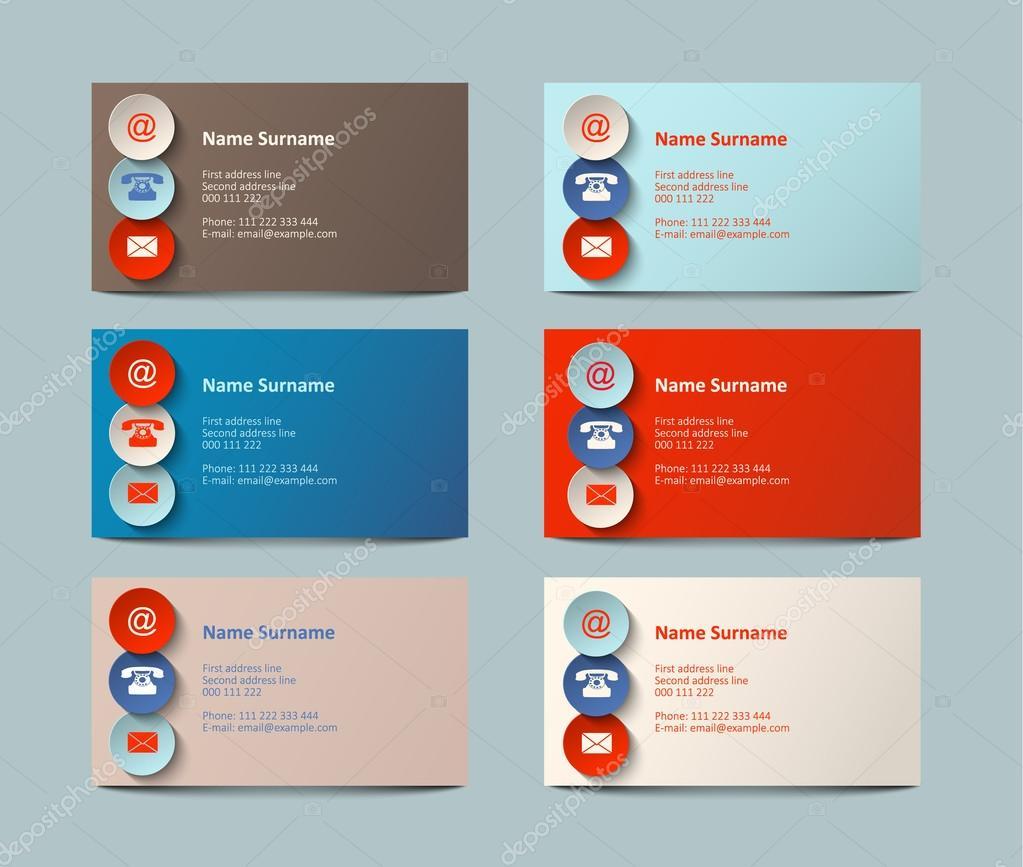 set of business cards, illustration — Stock Vector © anikakodydkova ...