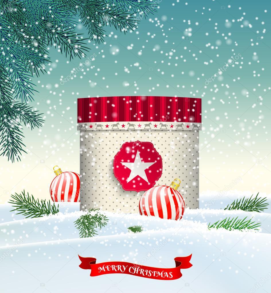 Sfondi Natalizi Innevati.Illustrazione Sfondi Paesaggi Innevati Natalizi Sfondo Di Natale