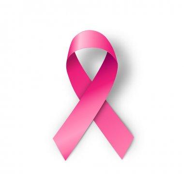 Breast cancer awareness pink ribbon, illustration