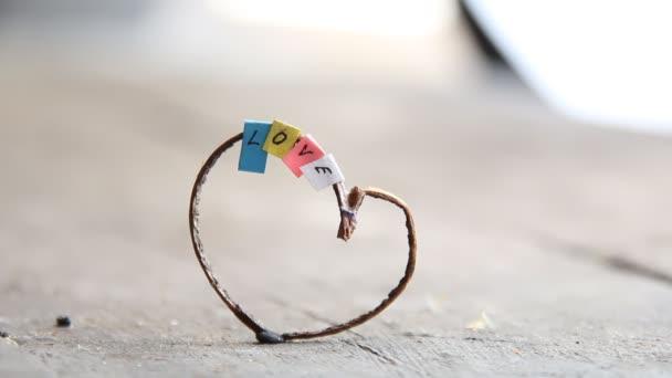 Valentinky den koncepce srdce textu láska