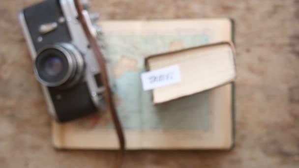 Cestovní - ruční písmo. Vintage složení