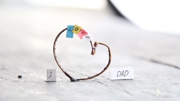 I Love Dad, happy, multicolored letters and heart, fathers day idea,
