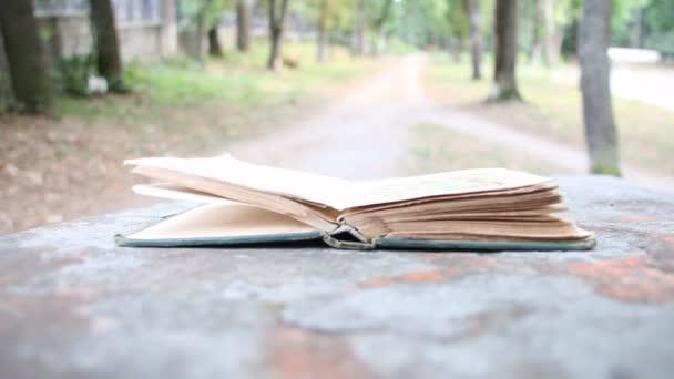 Hand schließt das Buch