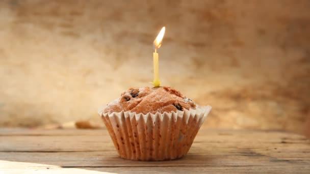 ízletes birthday cupcake gyertya