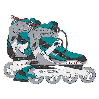 vector color roller skates 01